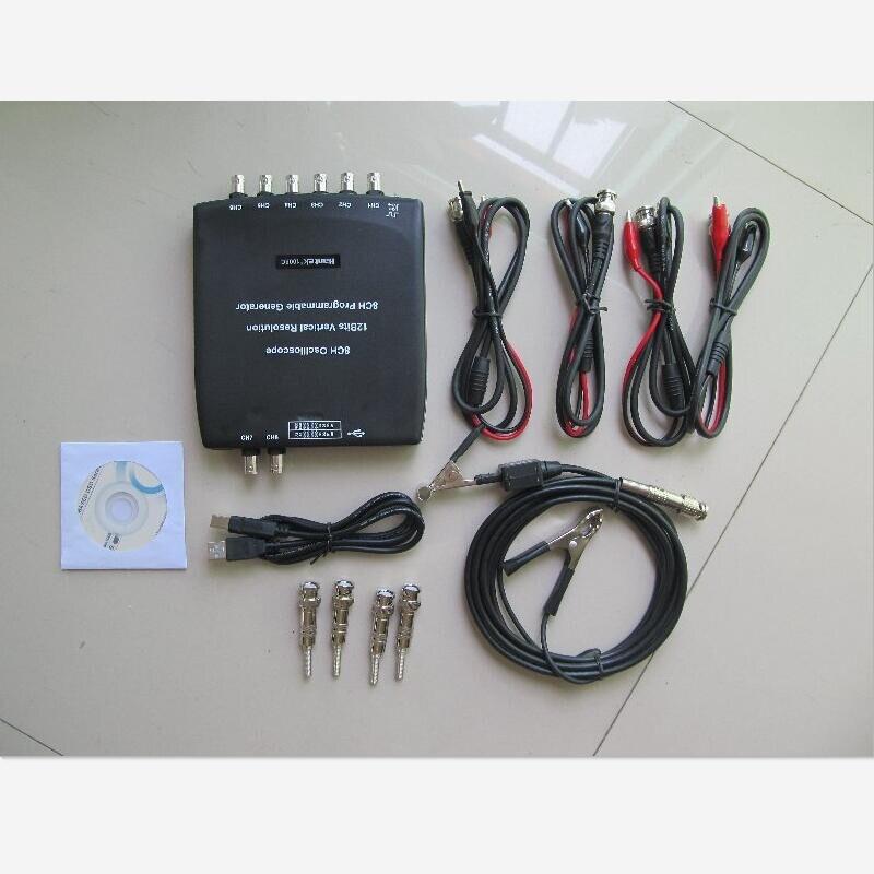 60MHz PROBE+Hantek 1008C 8CH USB Oscilloscope Professional Automotive Diagnostic Newest Oscilloscope Hantek 1008C USB 8CH hantek 1008c digital oscilloscope 8ch pc usb automotive diagnostic daq program generator 8ch 2 4msa s vehicle tester