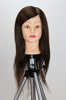 22inch Hair Mannequin Hairdressing Dolls Head High Temperature Fiber Hair Styling Mannequins Practice Salon Mannequin Head