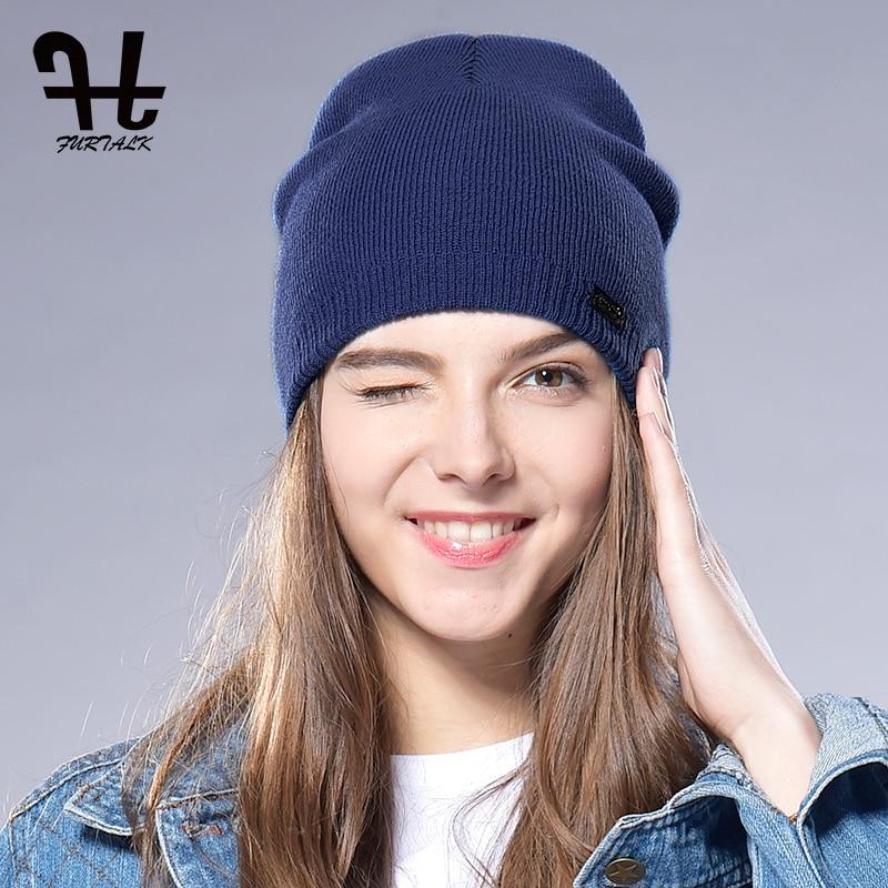 FURTALK Unisex Bahar Sonbahar Şapka İzle Kap Kadın Yün Örgü - Elbise aksesuarları - Fotoğraf 3