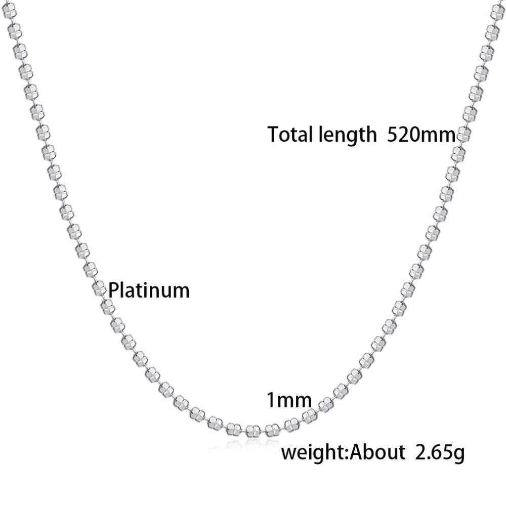 Klasyczne podstawowe łańcuch srebrny karabińczyk regulowany naszyjnik łańcuch biżuteria DIY tworzenia biżuterii materiał Buik wysokiej jakości