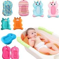Baby Shower Portable Air Cushion Bed Baby Bath Pad Non Slip Bathtub Mat NewBorn Safety Security Bath Seat Support