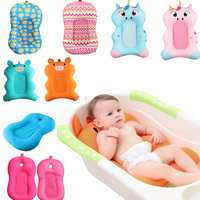 Baby Shower Portable Air Cushion Bed Baby Bath Pad Non Slip Bathtub Mat NewBorn Safety Security Bath Seat Support