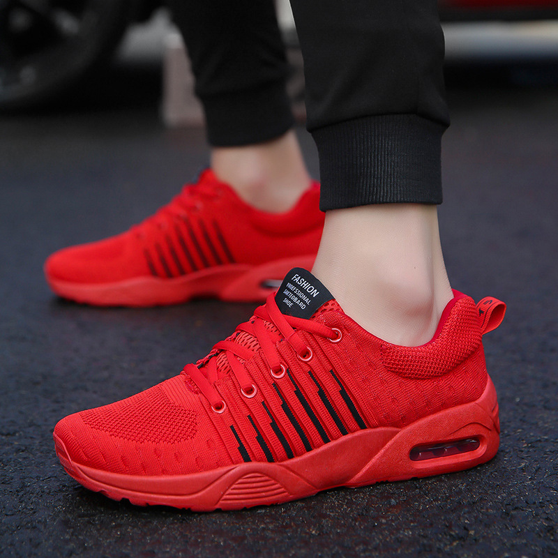 Men Sneakers Breathable Comfortable Lace-Up Cheap Running Shoes For Males Spring Autumn Summer Outdoor Walking Sport Men