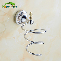 Free Shipping Chrome Finish Bathroom Hair Dryer Holder Wall Mounted