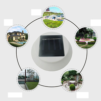 Led Solar Lamp Home Wall Light 4 LED Solar Powered Gutter Light Outdoor Home Garden Yard Wall Fence Pathway Lamp Night Light