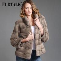 FURTALK 2016 целый набор природный короткие норки пальто Меховой жакет
