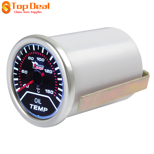 Novo 2 Polegada 52mm Motor Do Carro de 40 A 150 Graus Celsius indicador de Temperatura do Óleo Medidor de Temperatura Prata Com Display Led Venda de Flash