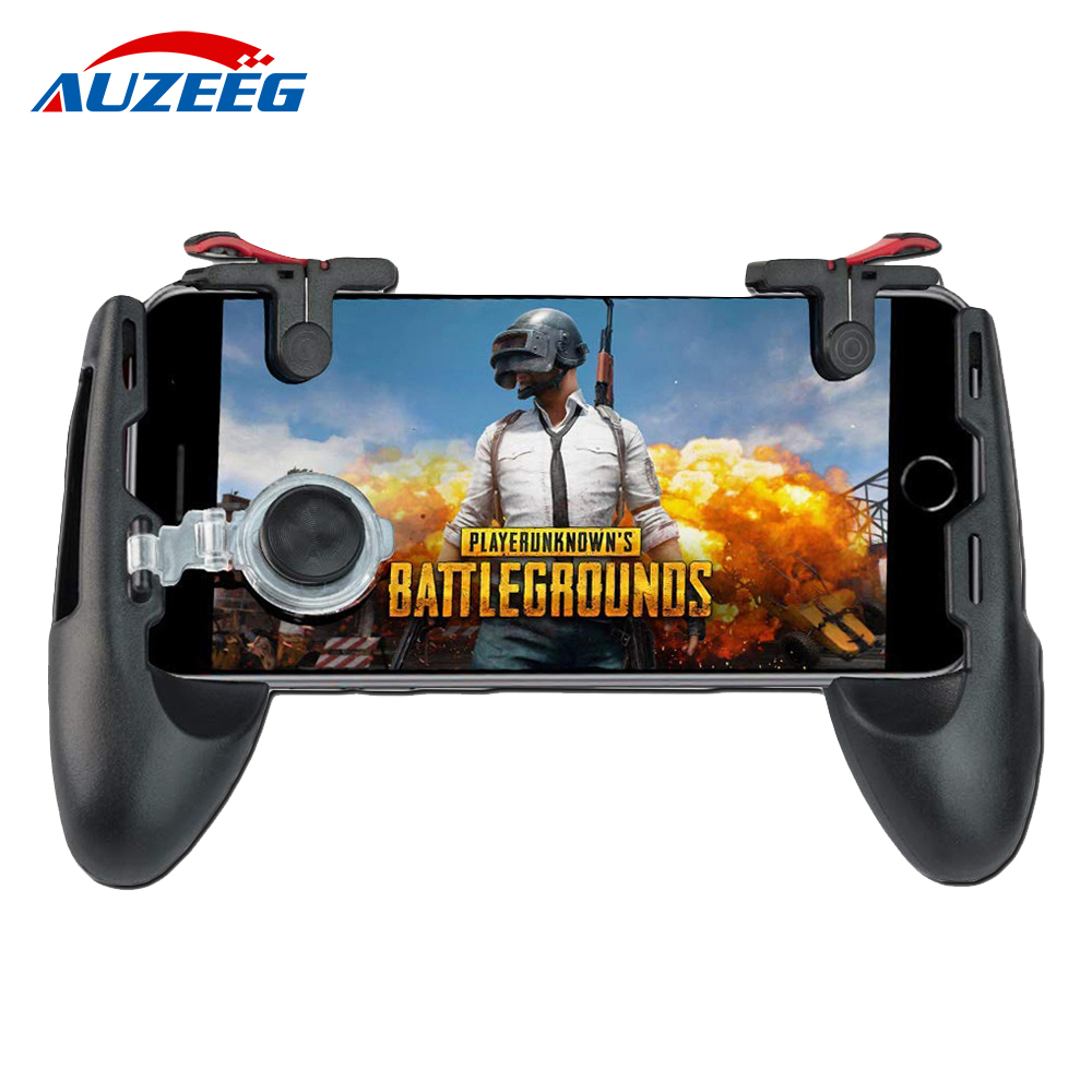 Mobile game controller phone grip with joystick fire button for 5 5 6 5 inch Android