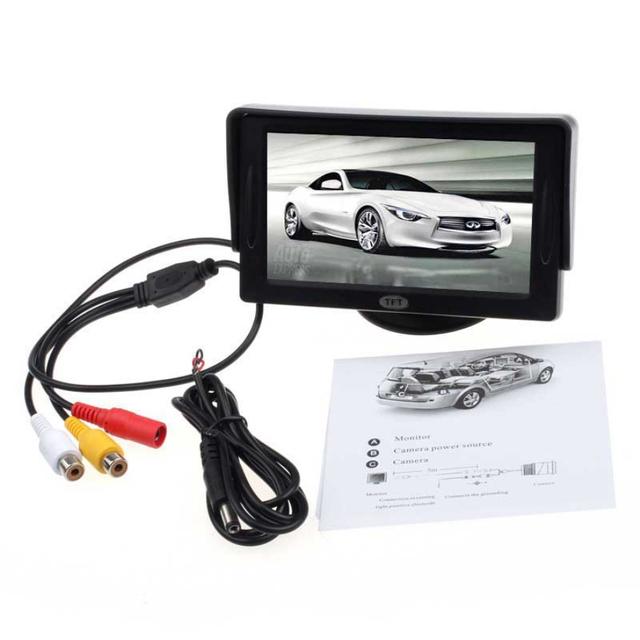 Novo Carro da Chegada 4.3 'TFT LCD Cor Retrovisor Monitor para DVD GPS Câmera Reversa De Backup