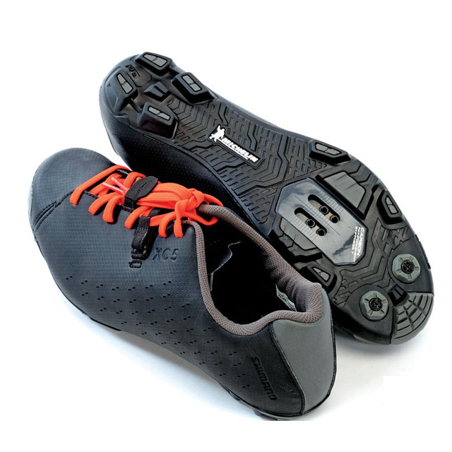 Lace-up Comfortable Durable Leather Men's Cycling Shoes