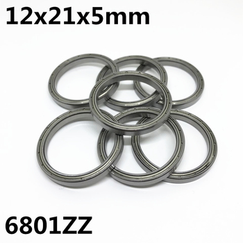 10pcs 6801ZZ 6801-2RS The high quality of ultra-thin deep groove ball bearings 12x21x5 mm 6801Z 6801RS image