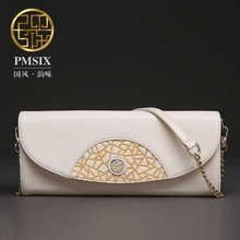 Pmsix 2017 Chinese Style new mini folding leather fashion handbags packet shoulder bag Messenger bag Boston P320004
