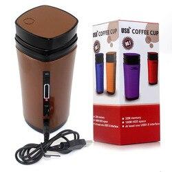 Aquecedor elétrico portátil aquecimento automático no inverno mistura mini mesa usb copo de café mais quente caneca de café misturador aquecedor
