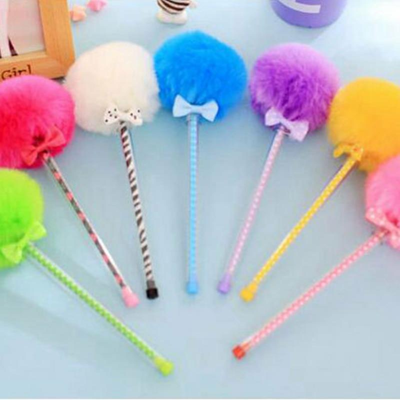 Cute Promotional Gift Kawaii Creative Gel Pen Colorful Fur Plush Pen Korean Stationery School Supplies Novelty Item Gudetama