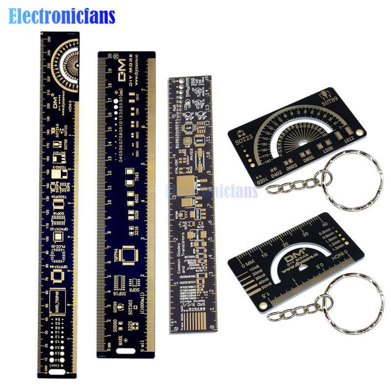 1Pcs 15cm PCB Ruler Measuring Resistor Capacitor Chip IC SMD Diod For Geeks MA