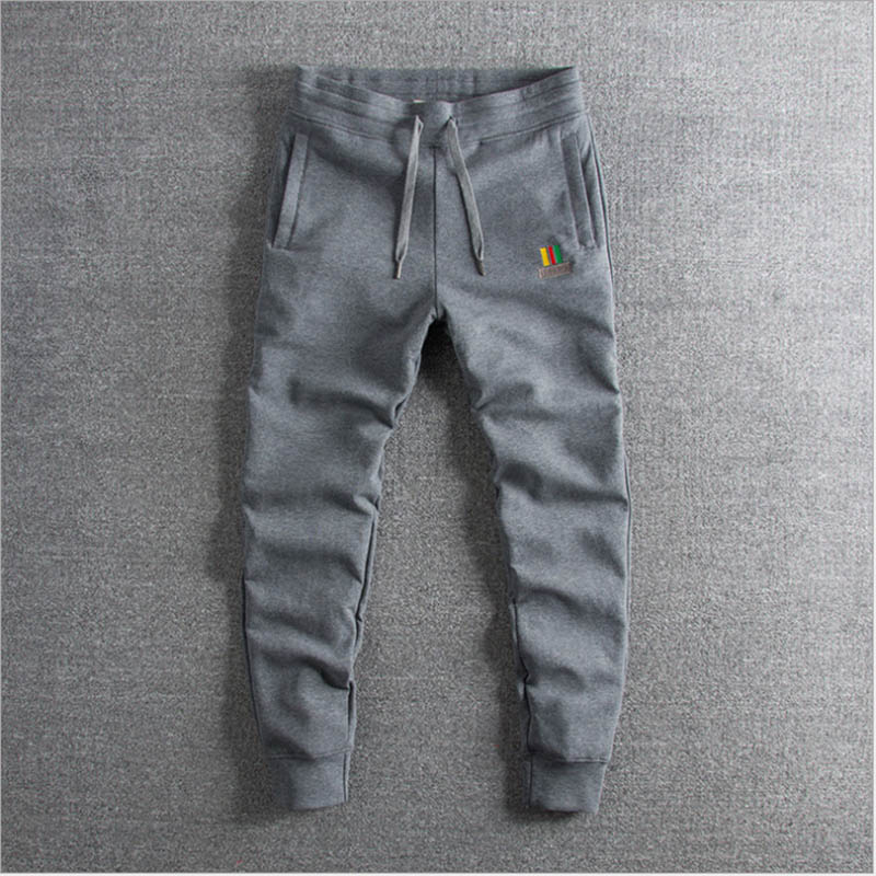 Spring And Summer 2019 New Water-washed Cotton Bomb Embroidery  Pants Foreign Trade Men's Leisure Guard Pants On Sale