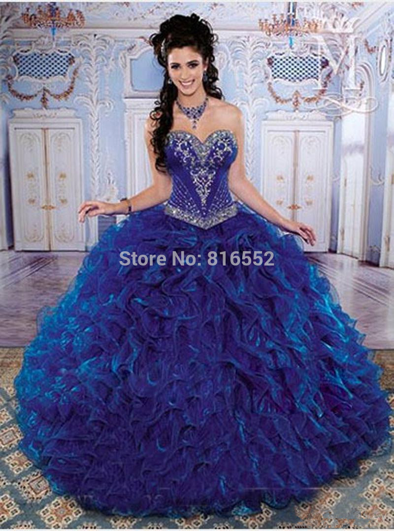 Aliexpress.com : Buy 2017 High Quality Navy Blue Quinceanera ...