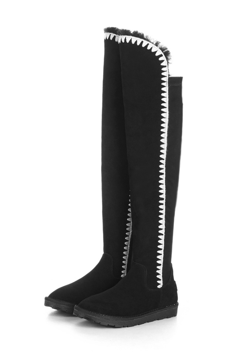 2016 Winter Women Thigh High Snow Boots European Style Elastic Over the Knee Thermal Warm Fur Long Boots Fashion Shoes Woman