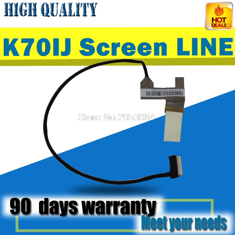 Computer Cables Original LCD Cable for Asus K70AB K70AF K51AB K51AE K51AC K70IJ led LCD lvds Cable 1422-00HB000 Cable Length: Other