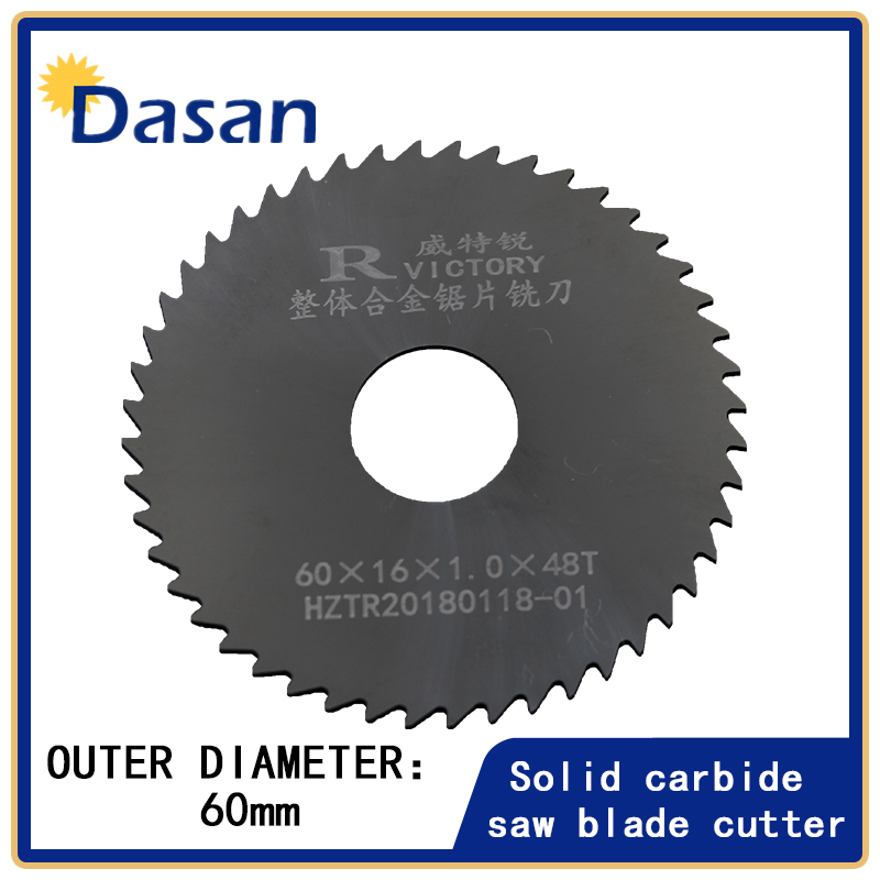 1PCS Circular Slitting Saw Blade Dia 60mm Thick 0.5mm to 3mm Solid Carbide Milling Saw Cutter Slotting Cutter Wood Cutting Tool 10 254mm diameter 80 teeth tools for woodworking cutting circular saw blade cutting wood solid bar rod free shipping