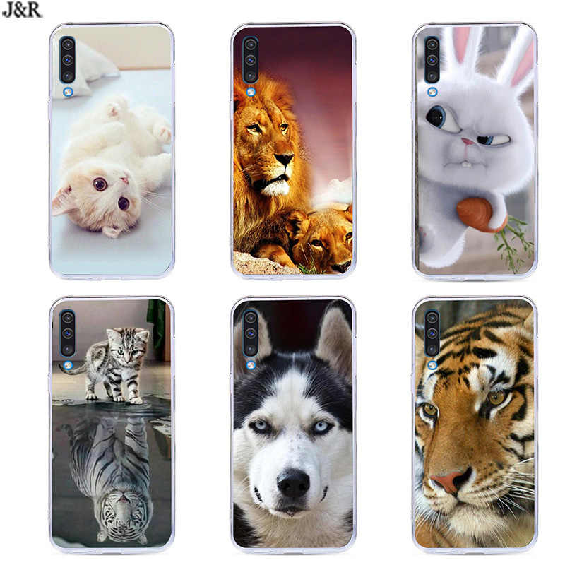 For Samsung A50 Cover Soft Silicone Phone Case For Samsung Galaxy A50 GalaxyA50 A 50 SM-A505F A505 A505F TPU Back Covers Painted
