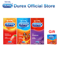 Buy 3 Get 1 Gift Durex Condoms Ultra Thin Safe Penis Sleeve Super Fire Adult Sex