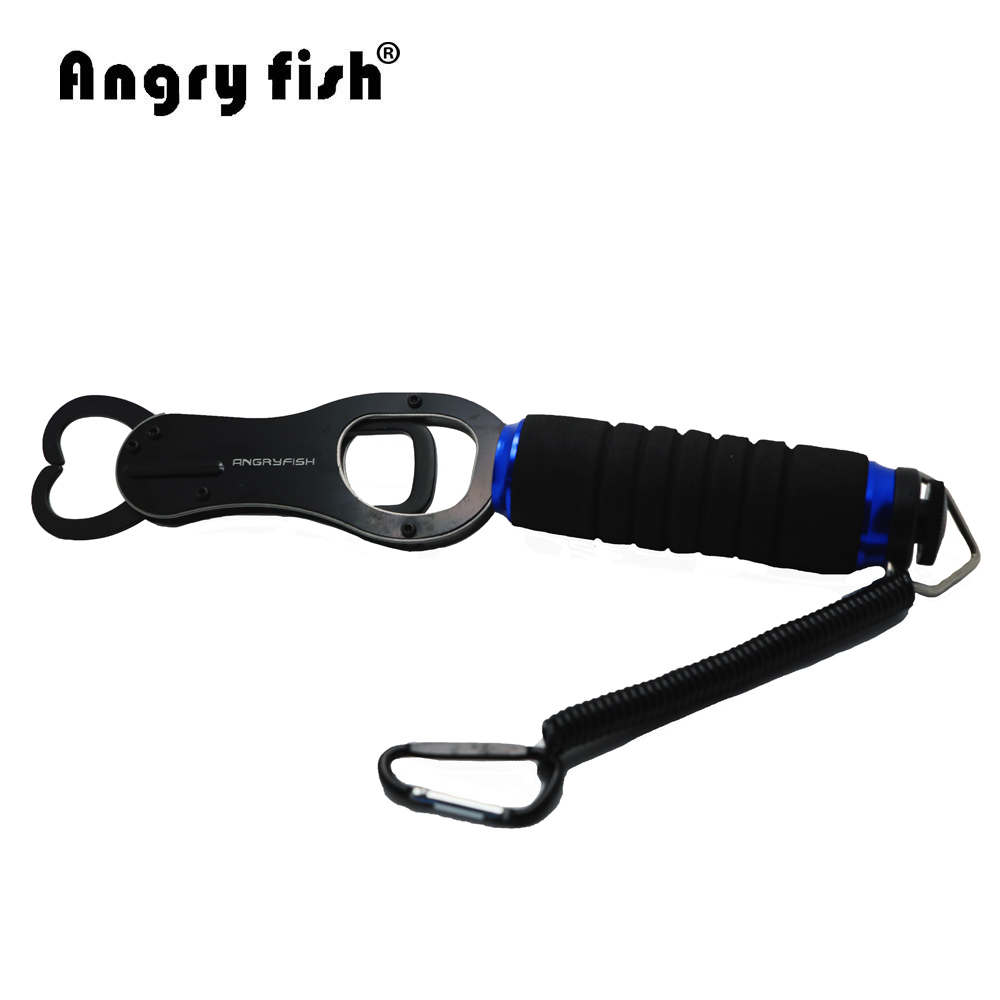 Angryfish K4 Hot Sale Fishing Tool Metal Stainless Steel Fish Holder Catch And Release Durable Lock Accessories Black Fish Grip