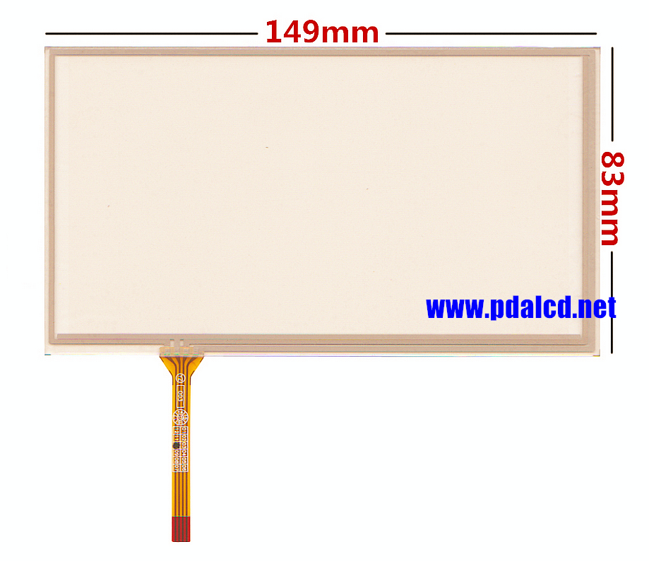 New 6.0 inch 149*83mm 4 wire Resistive Touch Screen Panels for 149mm*83mm GPS Touch screen digitizer panel Repair replacement wholesale new 4 3 inch touch screen panels for lms430hf18 lms430hf19 gps touch screen digitizer panel replacement free shipping