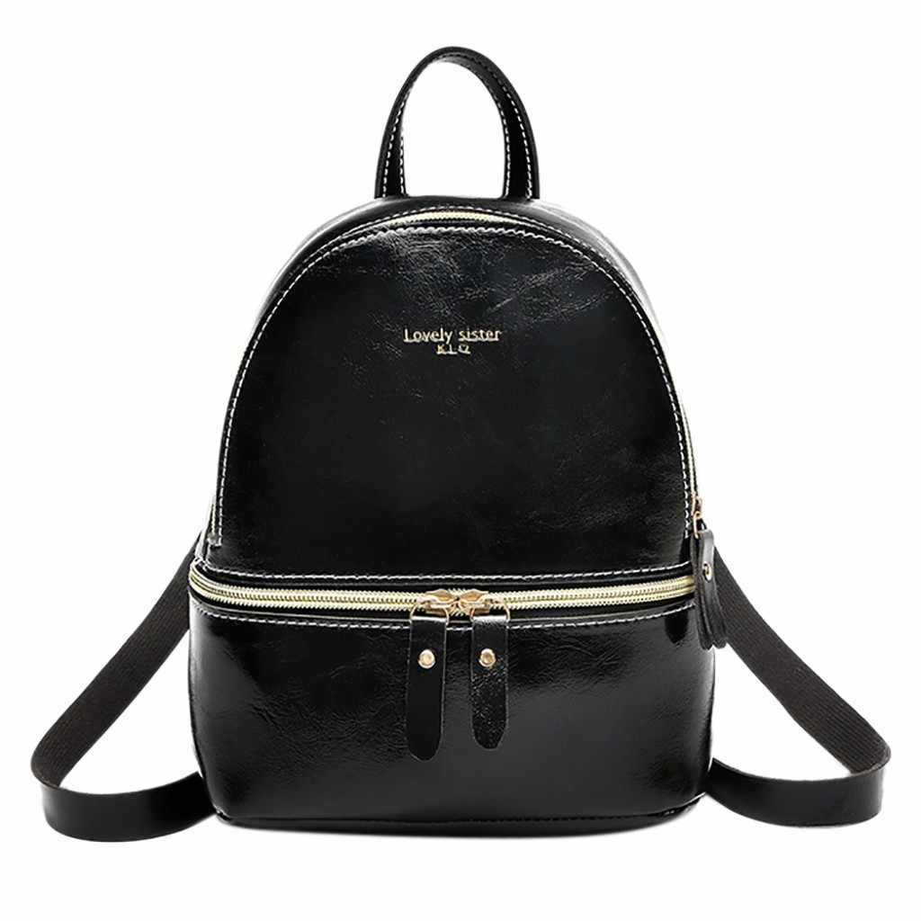 1252aad9855 Detail Feedback Questions about Backpack Fashion Lady Leather ...