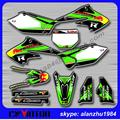 FREE SHIPPING KX250F 04 05 3M GRAPHICS KX CUSTOMIZED BACKGROUND DECALS STICKERS KITS FOR RACING MOTORCYCLE