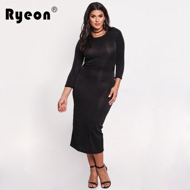 058f031d234 Ryeon Velvet Dress Autumn Winter Maxi Dress Women Tunic Plus Size Sexy  Black Long Sleeve Split Party Elegant Bodycon Dress XXXL