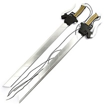Weapon Sword Inspired by Attack on Titan Mikasa Ackermann Anime Cosplay Accessories Sword Weapon Silver Wood