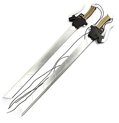 Weapon / Sword Inspired by Attack on Titan Mikasa Ackermann Anime Cosplay Accessories Sword / Weapon Silver Wood Female
