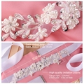 TOPQUEEN S46 Free Shipping Pure handmade Wedding Bridal Belts Applique with Beading Bridal Dress Accessories Sash Wedding Sashes