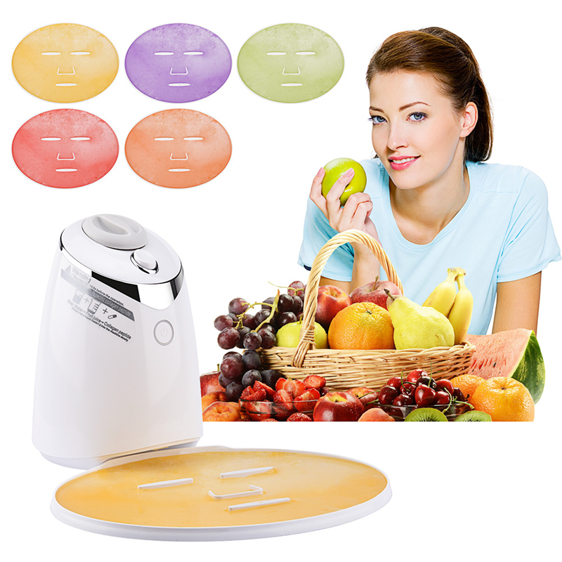 DIY Natural Face Mask Machine Automatic Fruit Facial Mask Maker Vegetable Collagen Mask English Voice Machine Face Skin Care 1 set professional face care diy homemade fruit vegetable crystal collagen powder facial mask maker machine skin whitening