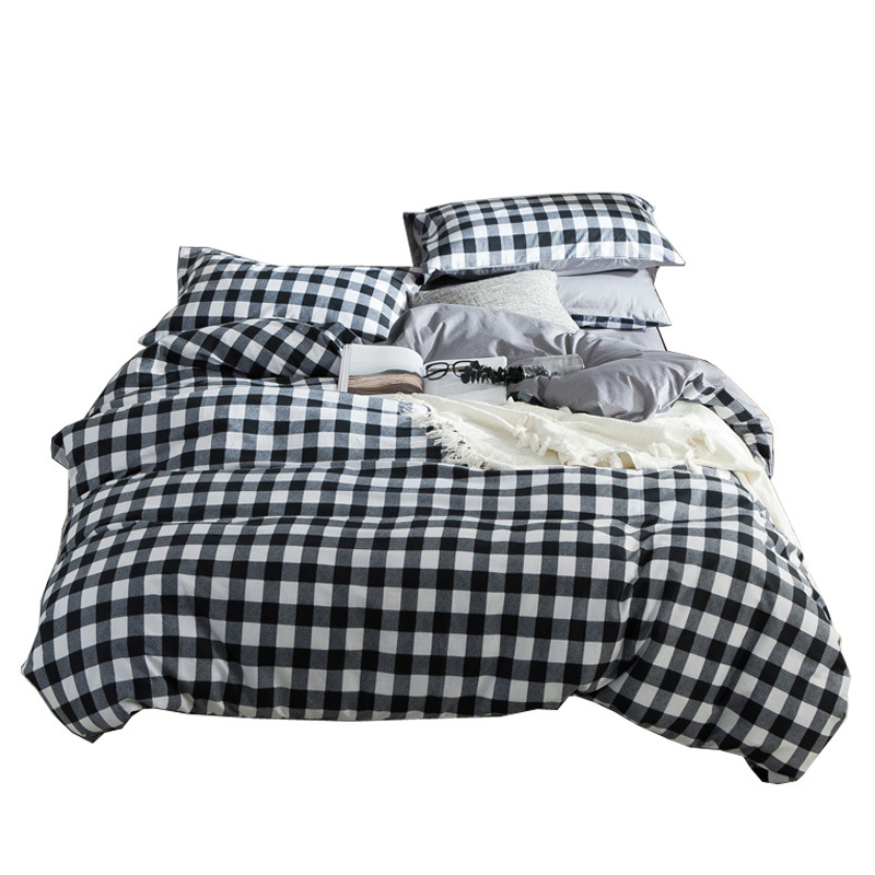 BEST luxury black and white squares Duvet Cover flat bed Sheets +Pillowcase King Queen full Twin Bedding Set Bedding Set 3/4pcs BEST luxury black and white squares Duvet Cover flat bed Sheets +Pillowcase King Queen full Twin Bedding Set Bedding Set 3/4pcs