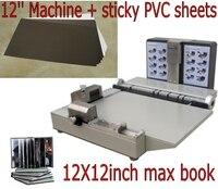 12x12 zoll Foto buch maker mounter unterputz album bindung maschine + liefert PVC klebrige blätter 400 stücke bundle-in Bindemaschine aus Computer und Büro bei