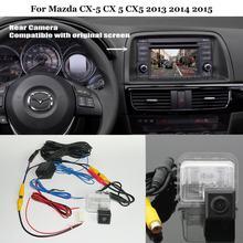 Yeshibation câmera de visão traseira para mazda CX-5 cx 5 cx5 2013 2014-back up conjuntos de câmera reversa rca & tela original compatível