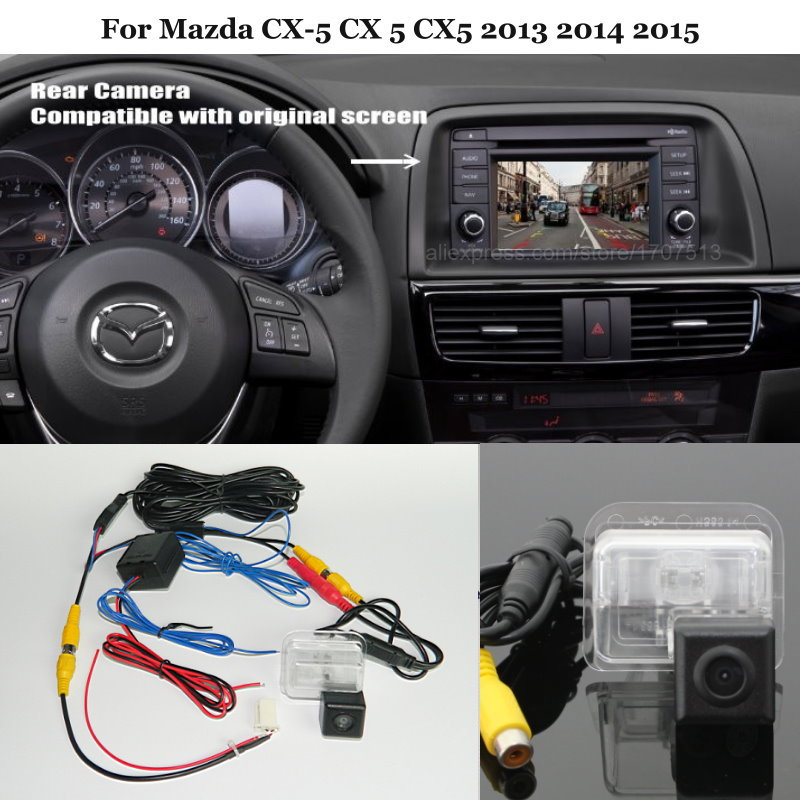 Yeshibation Rear View Camera For Mazda CX-5 CX 5 CX5 2013 2014 - Back Up Reverse Camera Sets RCA & Original Screen Compatible
