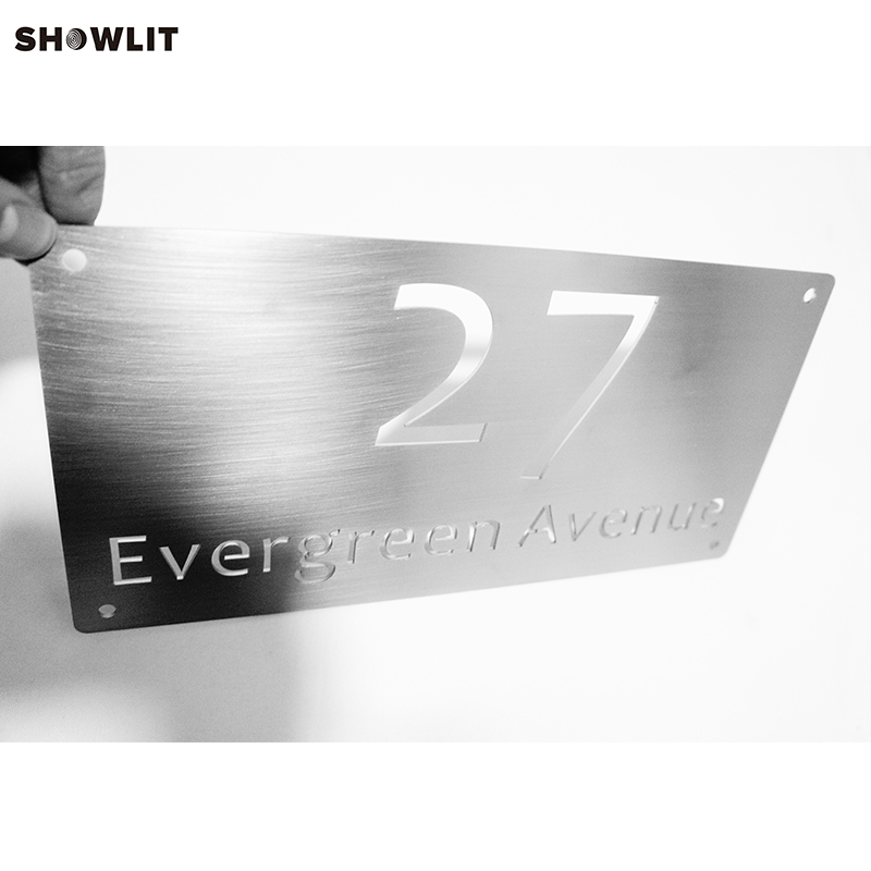 Modern Waterproof Outdoor Stainless Steel Laser Cutting Out House Number SignsModern Waterproof Outdoor Stainless Steel Laser Cutting Out House Number Signs