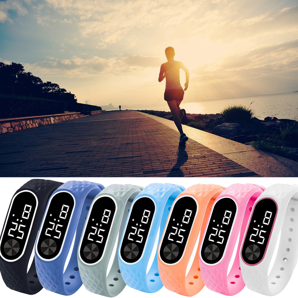 Aimecor Men Women LED Digital Display Bracelet Watch  Wristwatch Children's Students Silica Gel Sports Watch Drop.2.22