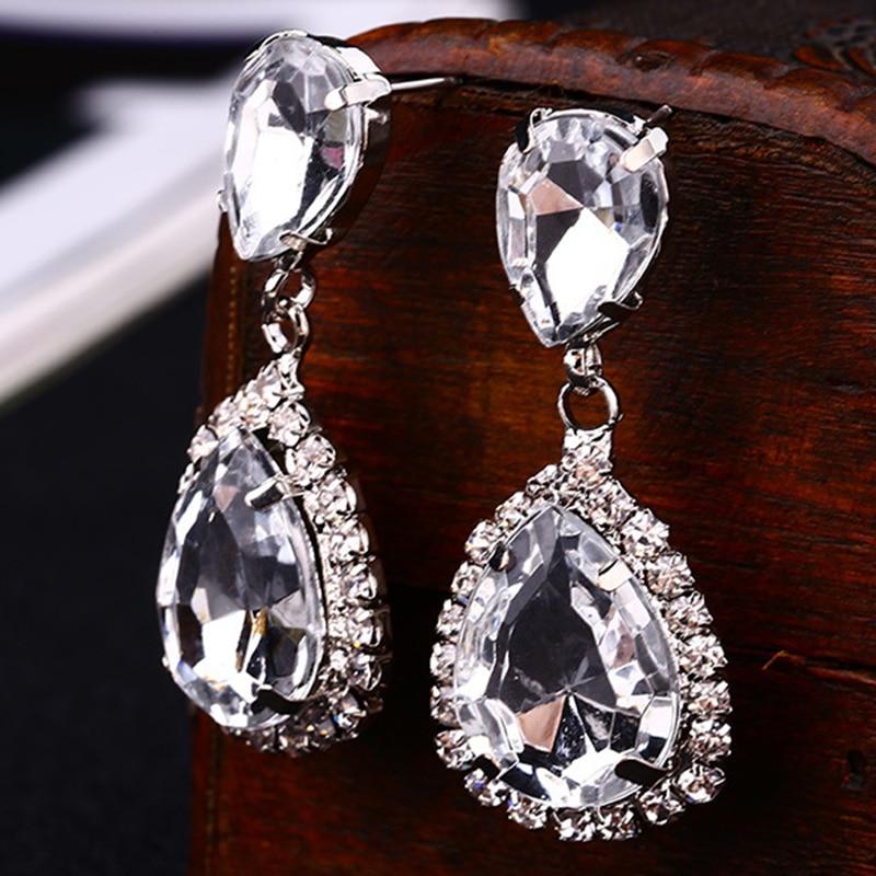 Mariage minuscule cristal Star Gold Sliver Drop Dangle Boucles d/'oreilles Party Fashion Jewelry