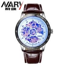 NARY 2016 Brand Luxury Brand Sports Men s Automatic Skeleton Mechanical Military Wrist watch Men full