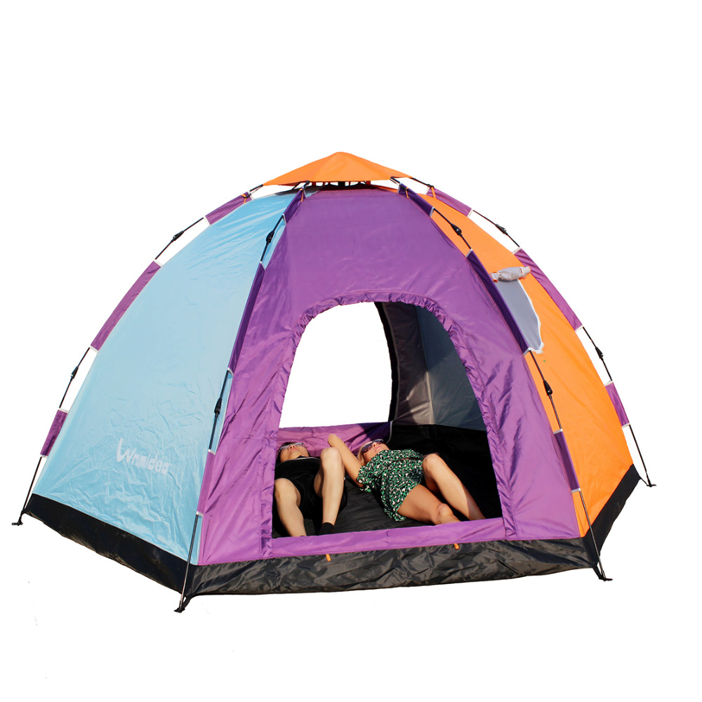 Wnnideo Instant Pop Up Tent 6 8 Person Outdoor C&ing Tent Hiking Backpacking-in Tents from Sports u0026 Entertainment on Aliexpress.com | Alibaba Group  sc 1 st  AliExpress.com : 8 person pop up tent - memphite.com