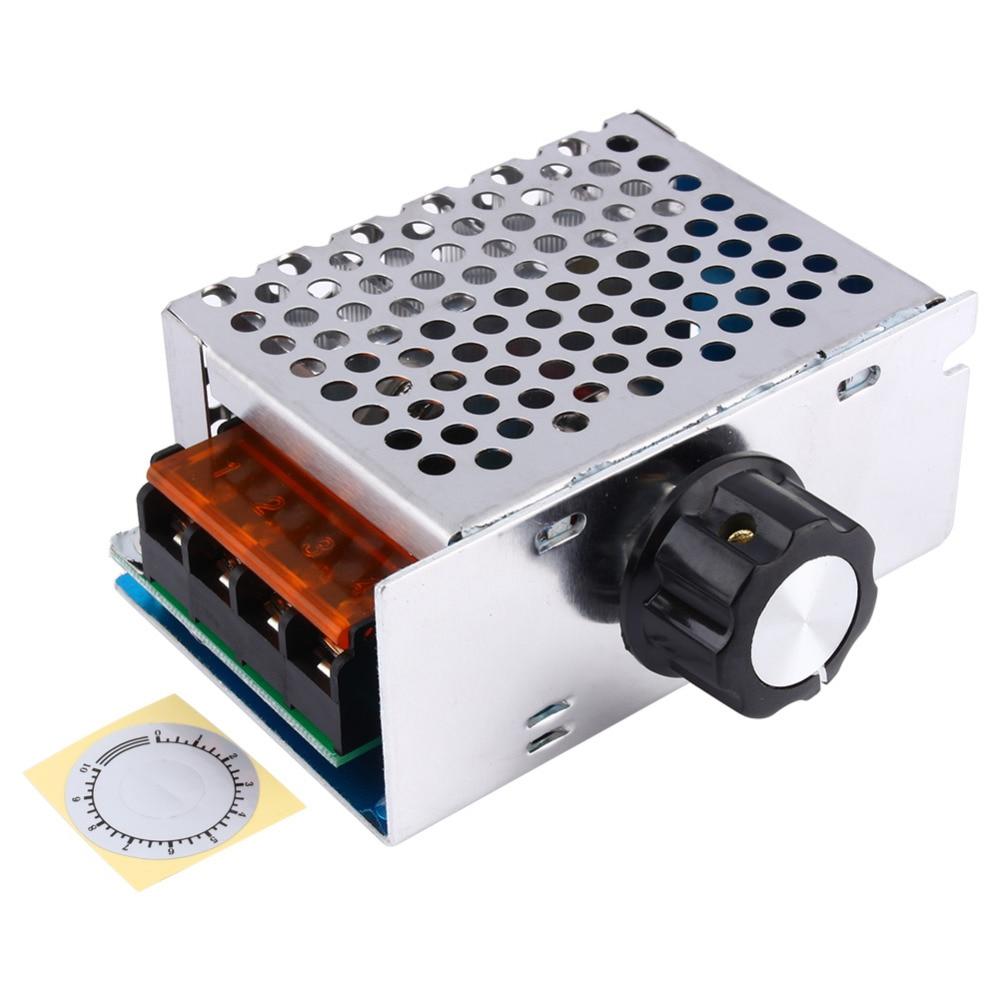 4000W 220V AC SCR Voltage Regulator Dimmer Electric Motor Speed Controller Electronic Volt Regulator Dimmer Thermostat Regulator