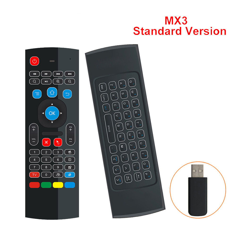 2018 NEWEST 2.4G MX3 Wireless Remote Control Wireless Qwerty Keyboard for Smart TV TV box T95Z Plus/X96 mini Projector