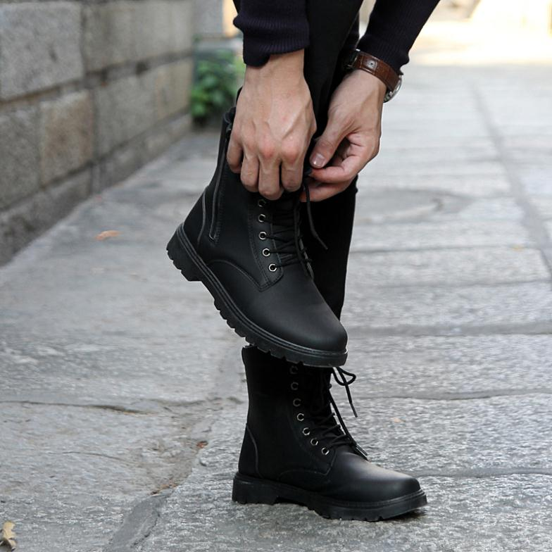 Free shipping Retro Combat boots men\u0027s boots Winter England