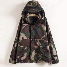 XS-XXL Harajuku Unisex Camouflage Jacket for Women/Men Couples Hoodie Coat Spring Canvas Camo Coats  Bomber Jacket