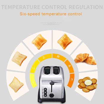 220V Toaster Automatic Baking Bread Maker Breakfast Machine of Bread 6 Levels of Tanning Removable Crumb Tray 4