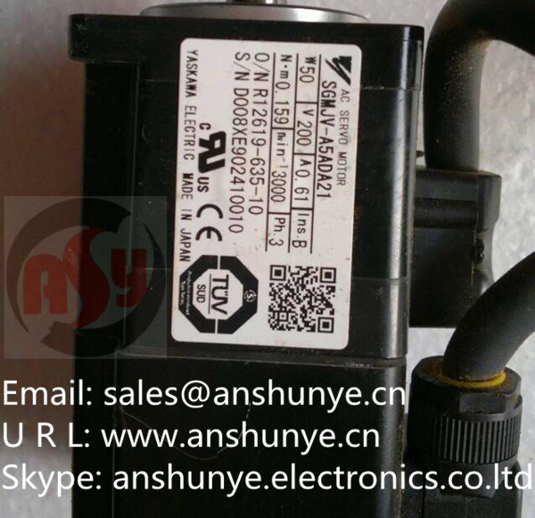 YASKAWA AC Servo Motor  SGMJV-A5ADA21 ,Second Hand Looks Like new Tested Working yaskawa hw0470360 a yaskawa yasukawa motoman industrial robots dedicated battery